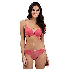 Ultimate - Pink spot frill mega boost bra