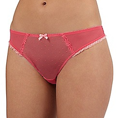 Ultimate - Pink spot frill thong