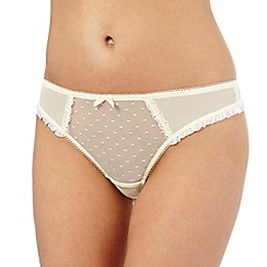 Ultimate - Light yellow frill thong