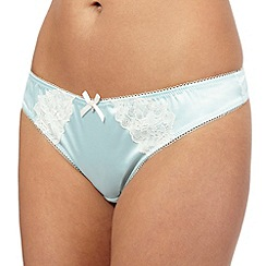 Ultimate - Pale green floral lace thong