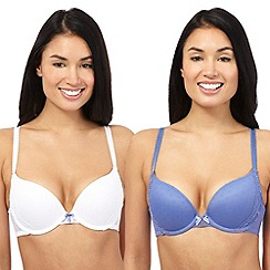 The Collection - Pack of two purple and white push-up bras
