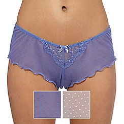 The Collection - Pack of two purple and white spotted shorts