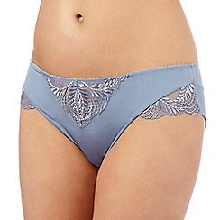 Spirit - Blue topaz embroidered hipsters