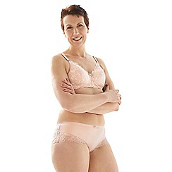 Spirit Post Surgery - Pink supima cotton & lace padded non-wired mastectomy bra