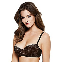 Wonderbra - Black 'Refined Glamour' non-wired non-padded balcony bra