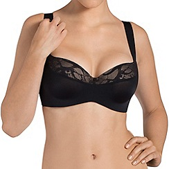 Triumph - Black 'Magic Boost' balcony bra