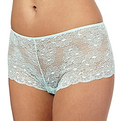 The Collection - Pale green floral lace shorts