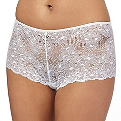 The Collection - White floral lace shorts