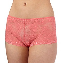 The Collection - Coral lace shorts