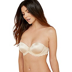 The Collection - Beige lace underwired bra