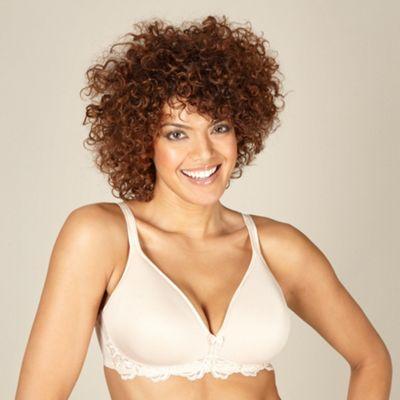 Natural lightweight wire free bra