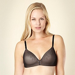 Debenhams - Black floral mesh non wired bra
