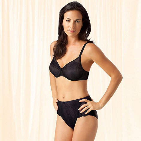 Playtex - Black +Tonique Contour+ Decorated bra