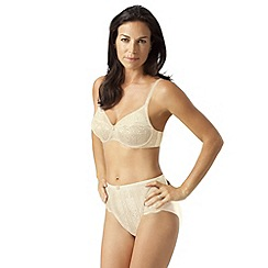Playtex - Cream 'Tonique Contour' Decorated bra