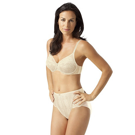 Playtex - Cream +Tonique Contour+ Decorated bra