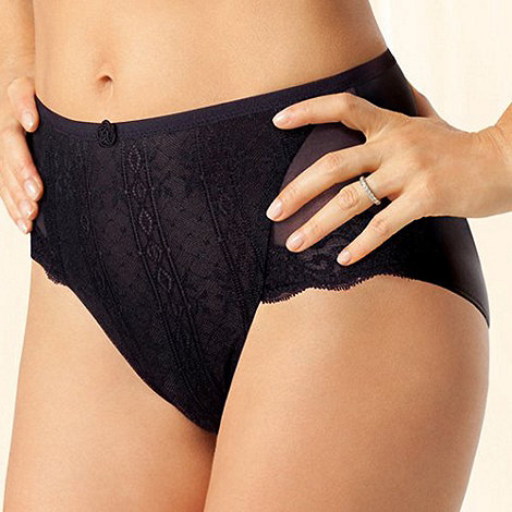 Playtex - Black +Tonique Contour+ Decorated lace brief