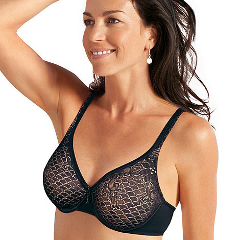Playtex - Black lace support t-shirt bra