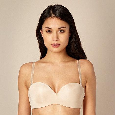 Debenhams - Nude multiway strapless bra