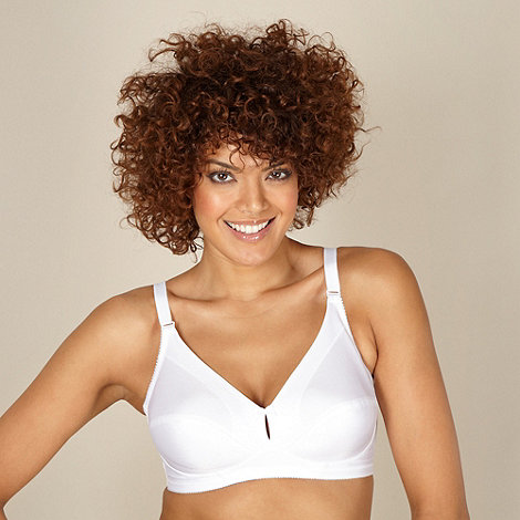 Debenhams - White plain non-wired support bra