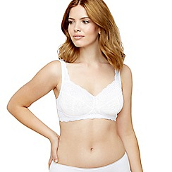 Debenhams - White super soft lace non wired bra