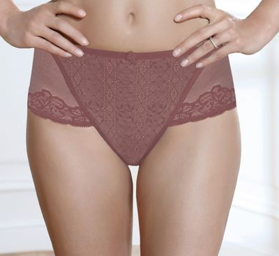 Purple Tonique Contour Decorated Briefs