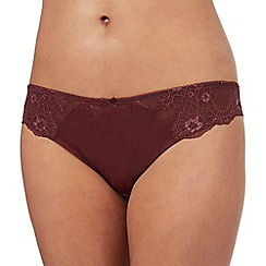 Ultimate - Dark red snakeskin-effect Brazilian briefs