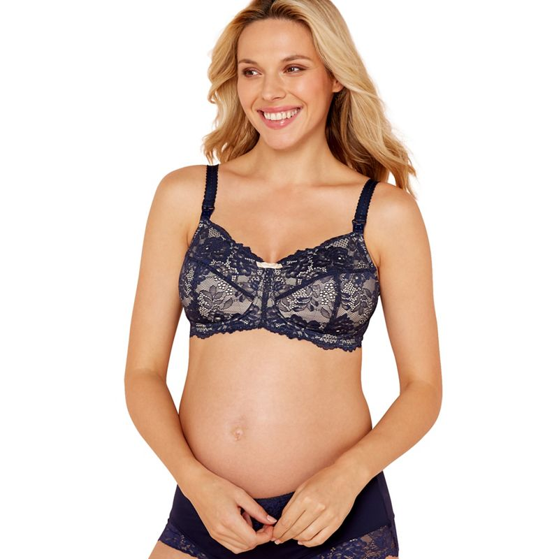 2 pack lace non-wired non-padded full cup nursing bras