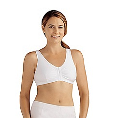 Amoena - White cotton 'Frances' non-wired non-padded sports bra