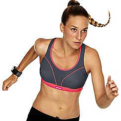 Shock Absorber - Grey 'Run' sports bra