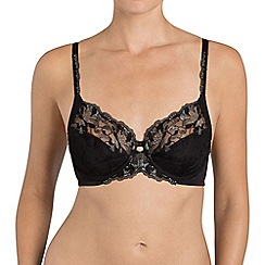 Triumph - Black 'Modern Bloom' full cup bra