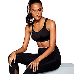 Shock Absorber - Black 'Active Support' non-wired non-padded sports bra