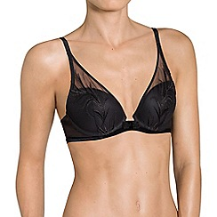 Triumph - Black 'Enchanted' plunge bra