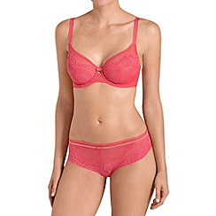 Triumph - Coral 'Beauty Full Darling' underwired plunge bra