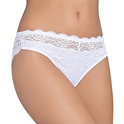 Triumph - White 'Amourette 300' tai brief