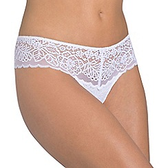 Triumph - White 'Amourette Spotlight' thong