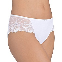 Triumph - White 'Modern Bloom' tai brief