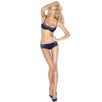 Blue gel balconette bra