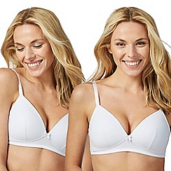 The Collection - Pack of two white padded t-shirt bras