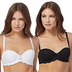 The Collection - 2 pack underwired padded strapless bras