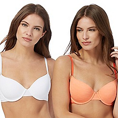 The Collection - 2 pack orange underwired padded t-shirt bras