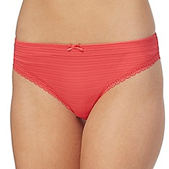 The Collection - 2 pack white and red striped Brazilian briefs