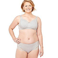 Spirit Post Surgery - Grey lace non-wired padded post-surgery bra