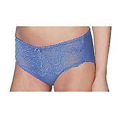 Playtex - Light blue flower lace midi briefs