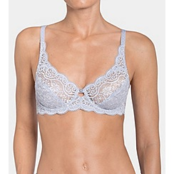 Triumph - Purple lace 'Amourette 300W' underwired non-padded full cup bra