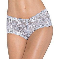 Triumph - Purple lace 'Amourette Maxi' full brief knickers