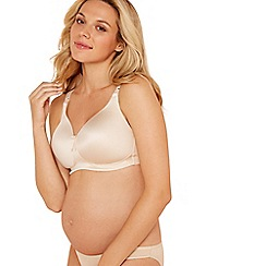 Nursing - Natural cotton blend non-wired padded nursing bra