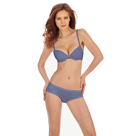 Triumph - Blue +Body Make-Up+ lace bra