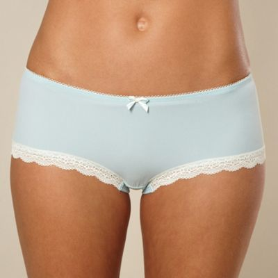 Aqua lace trim shorts