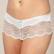 Light blue satin and lace shorts