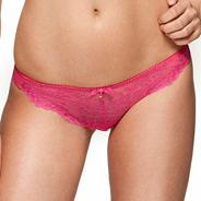 Pink 'Superboost' lace thong